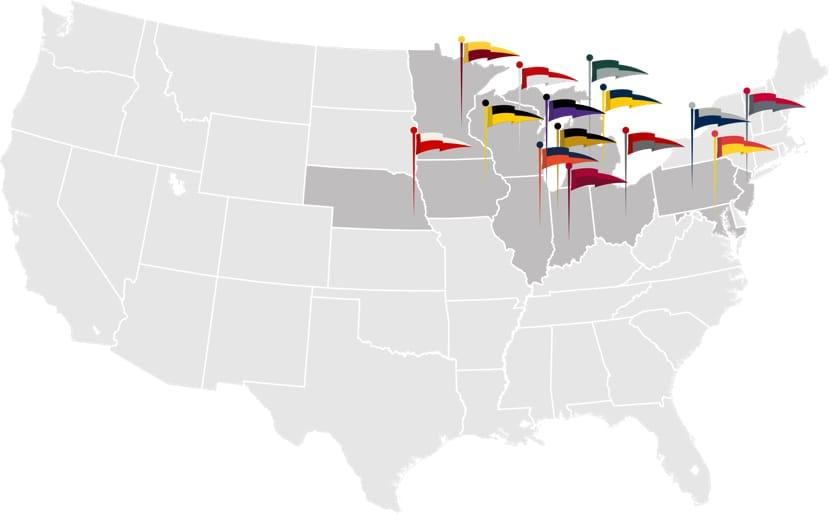 Big 10 Map