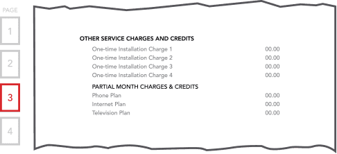 Bill Section - Other Service Charges