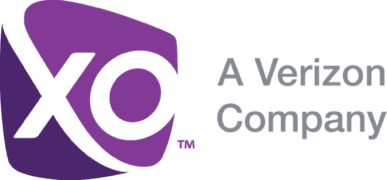 Logo for XO Communications, a Verizon Company.