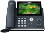 Image of a 16-line IP desk phone.