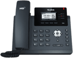 Image of a 3-line IP desk phone.