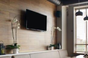 employee breakroom with TV