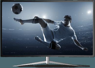 Soccer player on tv