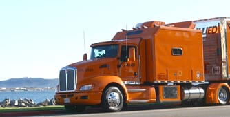 Big orange moving truck