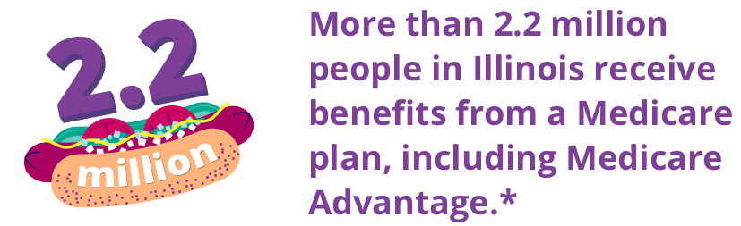 More than 2.2 million people in Illinois receive benefits from a Medicare plan, including Medicare Advantage.
