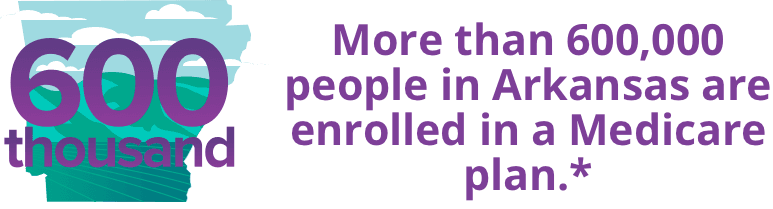 More than 600,000 people in Arkansas are enrolled in a Medicare plan.*