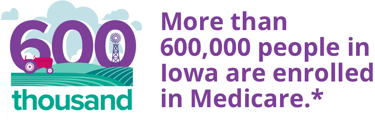 More than 600,000 people in Iowa are enrolled in a Medicare plan.