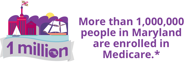 More than 1,000,000 people in Maryland are enrolled in Medicare.*
