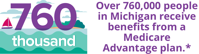 Over 760,000 people in Michigan receive benefits from a Medicare Advantage plan.*