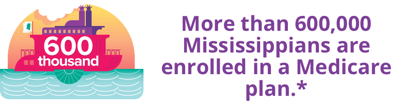 More than 600,000 Mississippians are enrolled in a Medicare plan.*
