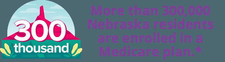 More than 300,000 Nebraska residents are enrolled in a Medicare plan.*