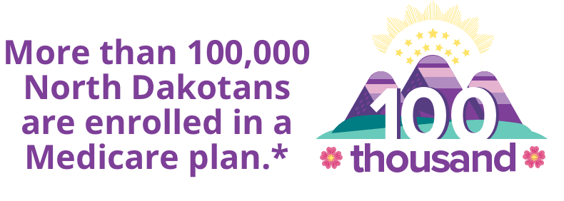 More than 100,000 North Dakotans are enrolled in a Medicare plan.*