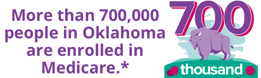 More than 700,000 people in Oklahoma are enrolled in Medicare.*