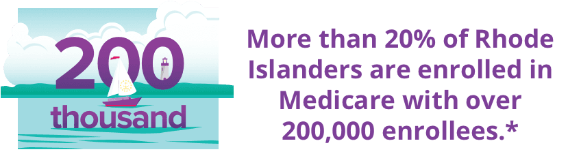 More than 20% of Rhode Islanders are enrolled in Medicare with over 200,000 enrollees.*