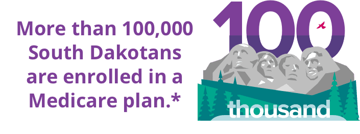 More than 100,000 South Dakotans are enrolled in a Medicare plan.*