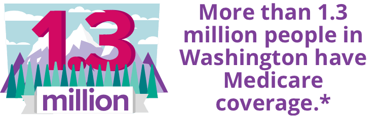 More than 1.3 million people in Washington have Medicare coverage.*