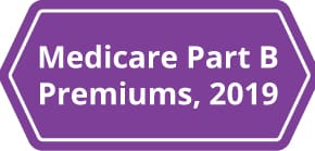 A chart explaining Medicare Part B Premiums in 2018