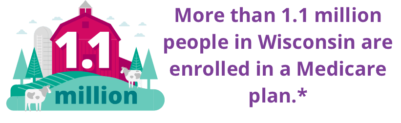 More than 1.1 million people in Wisconsin are enrolled in a Medicare plan.