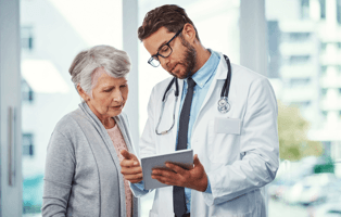 Doctor explaining a information to patient