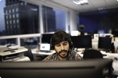 image of a customer support agent
