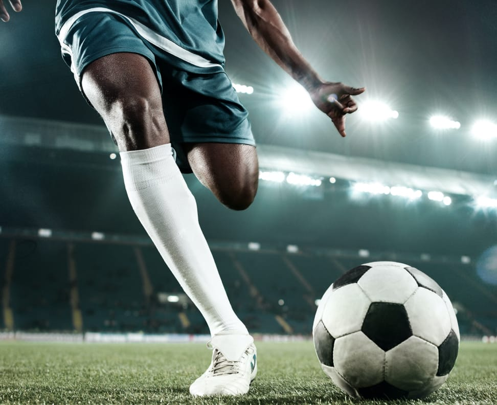 Soccer player on field