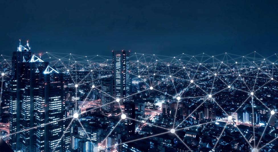 Fiber network spans a city