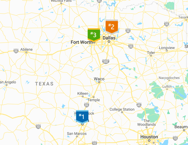 texas cities map