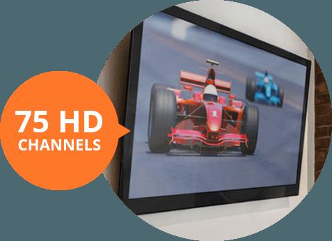 75 HD Channels