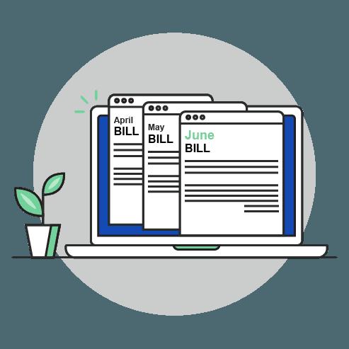 Illustration of Internet bills