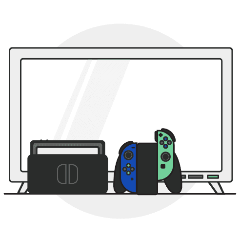 Drawing of a game console