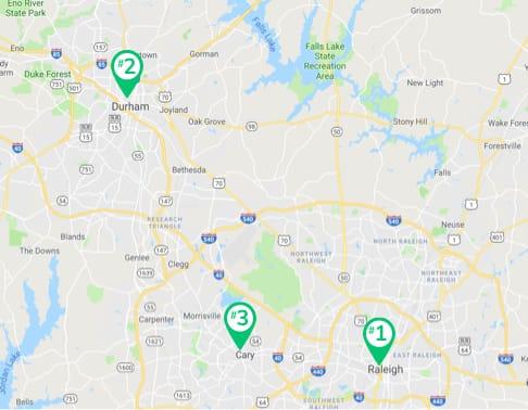 North Carolina cities