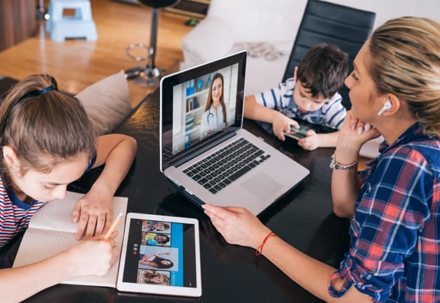 family on devices