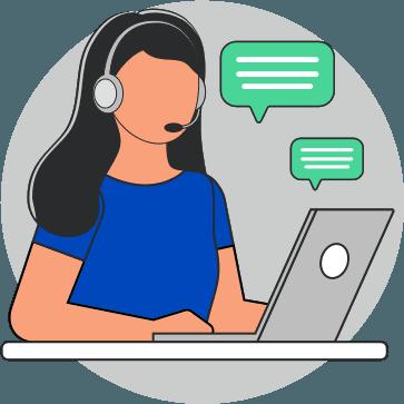 illustration of customer service agent