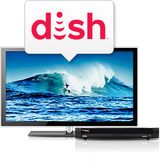 TV screen with DISH Hopper