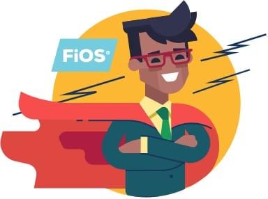 Frontier FiOS Fast Superhero