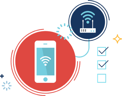 illustration of the my frontier app controlling WiFi