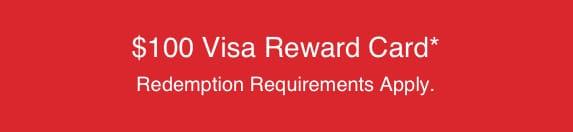 visa reward 100