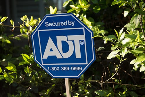 ADT home security sign