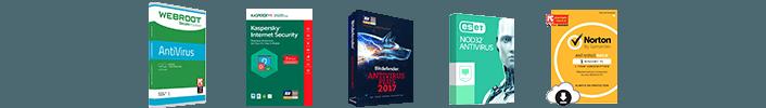 Assortment of antivirus software