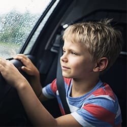 When can kids ride in the front seat?