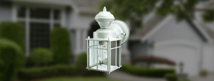 zenith bayside mission style motion sensing decorative security light. Black Bedroom Furniture Sets. Home Design Ideas
