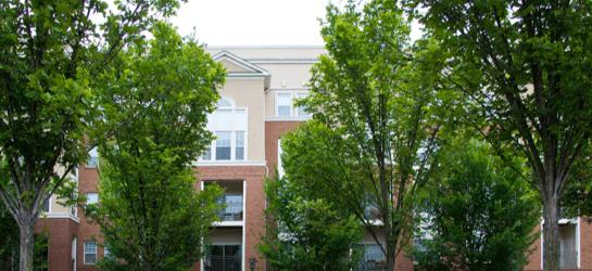 exterior of apartment complex