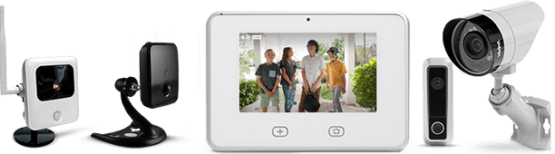 monitored home security camera systems