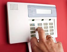 security system control panel