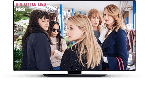 Big Little Lies playing on HBO.