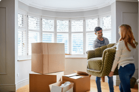 couple moving homes