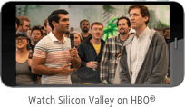 Tv show Silicon valley playing on phone