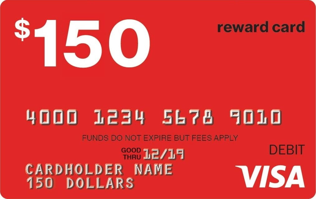 $150 Visa gift Card