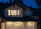 vivint secured house in neighborhood at night