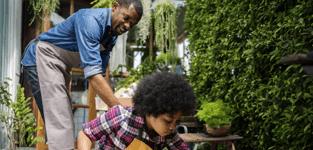 father son gardening